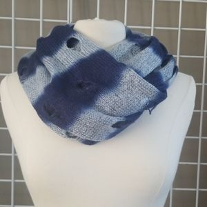 DIstressed Ombre Infinity Scarf